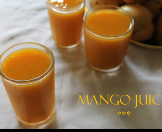 Homemade Mango Juice / Fresh Mango Juice Recipe
