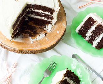 Chocolate Peppermint Cream Cheese Cake