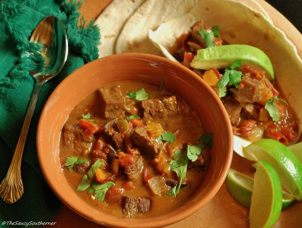 Crock Pot Carne Guisada – Mexican Beef Stew  (Soup Saturday – Slow Cooker Recipe)