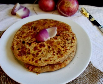 Stuffed Onion Paratha- Crunchy And Spicy, Some Step By Step Pictures