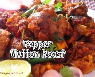 MUTTON ROAST / MUTTON PEPPER ROAST - VIDEO RECIPE