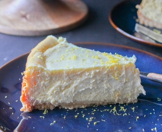 Lemon Cheesecake with Shortbread Crust