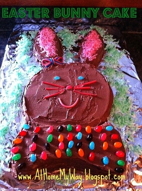 Easter Bunny Cake - Homemade