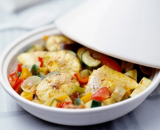 Vistajine met ratatouille