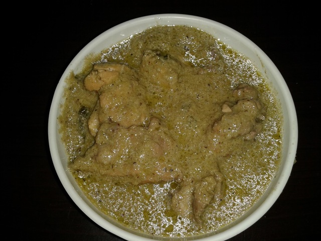 CHICKEN GREEN MASALA