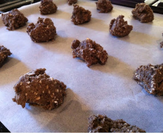 Black rice, seed and choc chip cookies - gluten and nut free