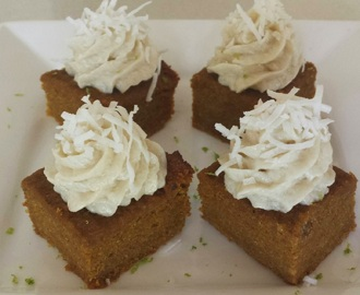 Carrot cake slice - Nut free, egg free and gluten free