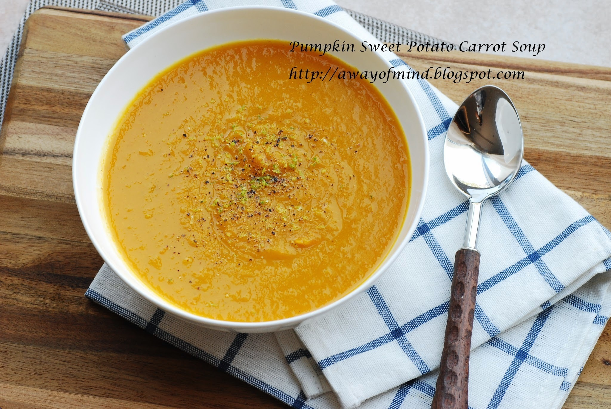 Pumpkin Sweet Potato Carrot Soup