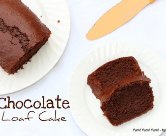 Eggless Chocolate Loaf Cake ( No Egg & No Butter)
