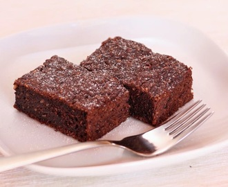 Dark, fudgy & nutritious: chocolate zucchini brownies, reinvented (GF, DF, V, lowcarb)