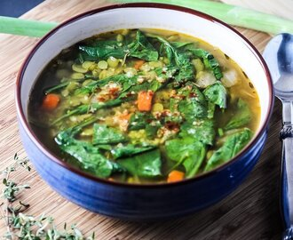 Split Pea Soup with Spinach and Smoked Paprika
