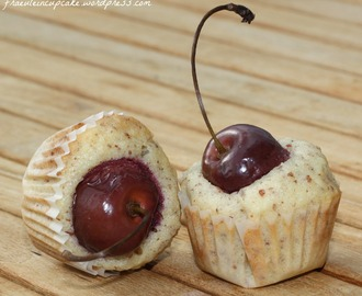 mini cherry almond cupcakes