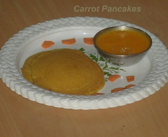 Yummy Carrot Pancakes With Carrot Sauce