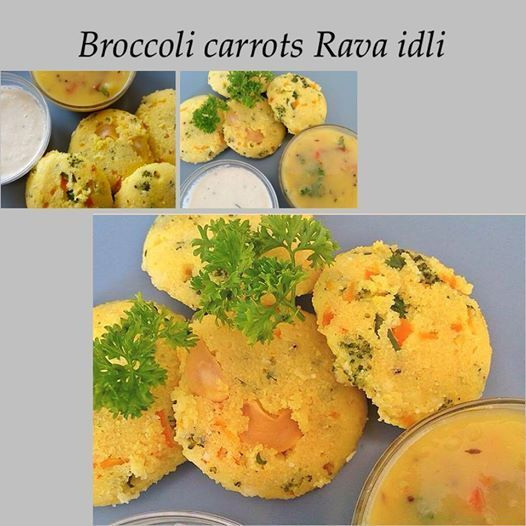 BROCCOLI CARROTS RAVA IDLI