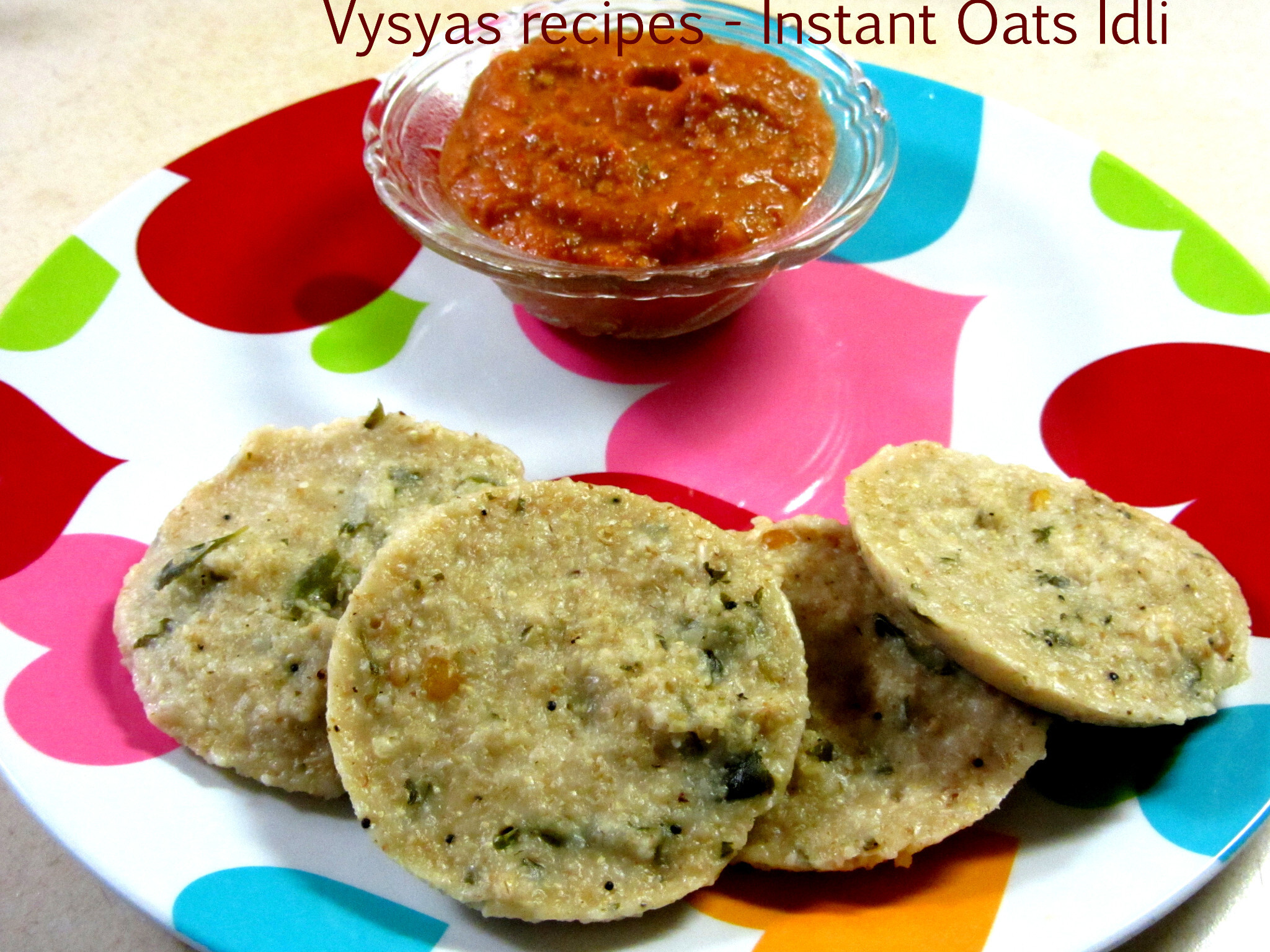 Instant Oats Idli - Oats idli using Wheat Rava - Oats Recipes - Oats Idli