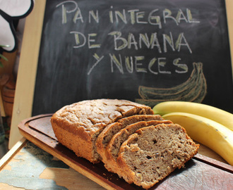 Pan integral de banana y nuez