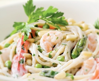 Garlic Pasta with Shrimp