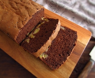 Chocolate and banana cake