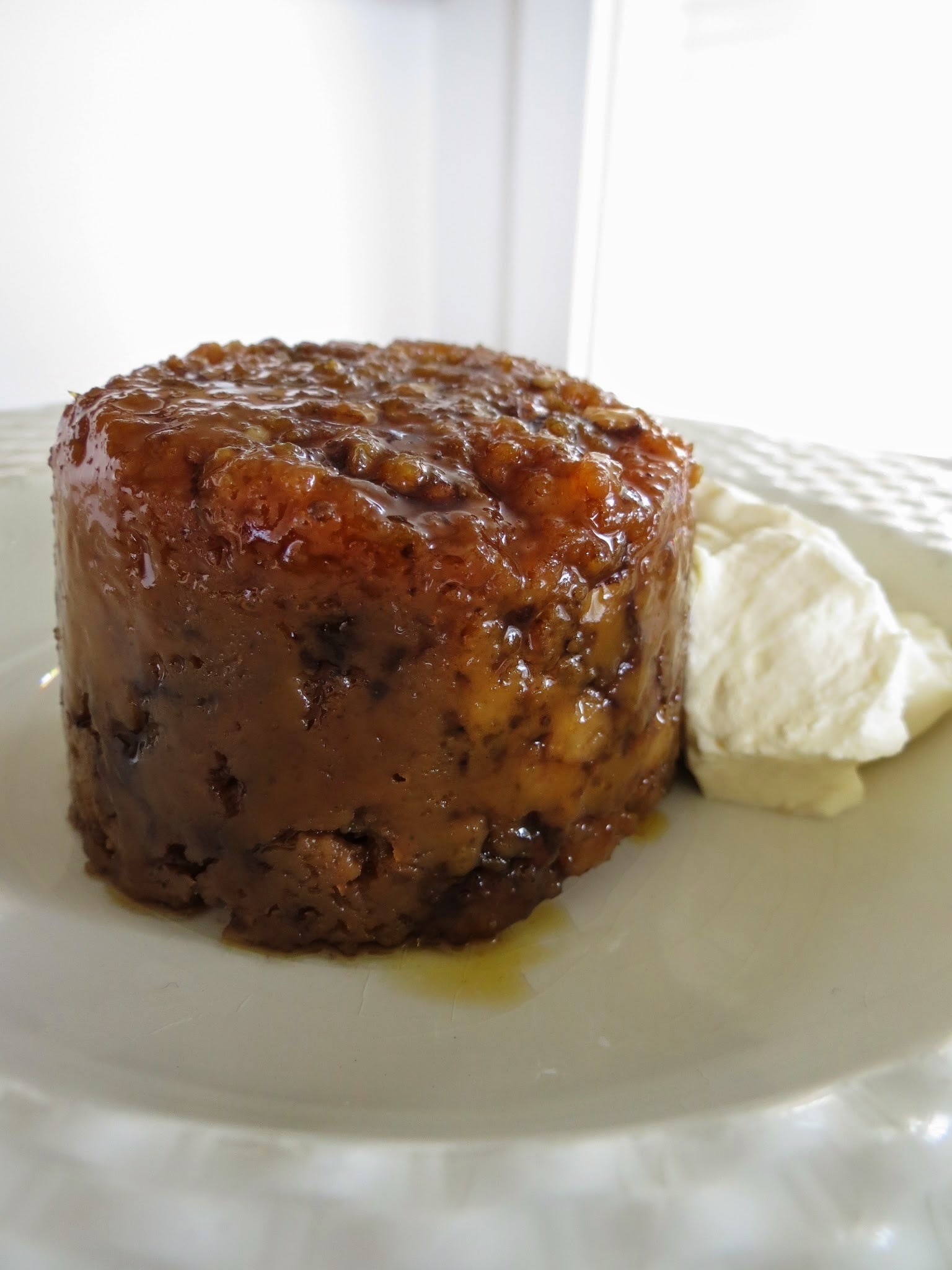 Brown bread, walnut and golden syrup steamed pudding
