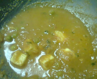 Paneer Mattar Masala ~ My Way