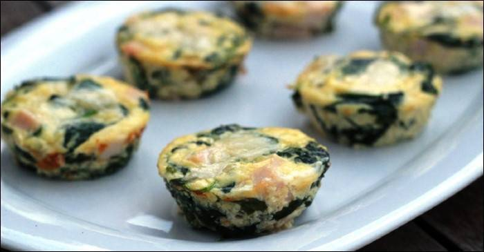 Mini quiches de espinacas