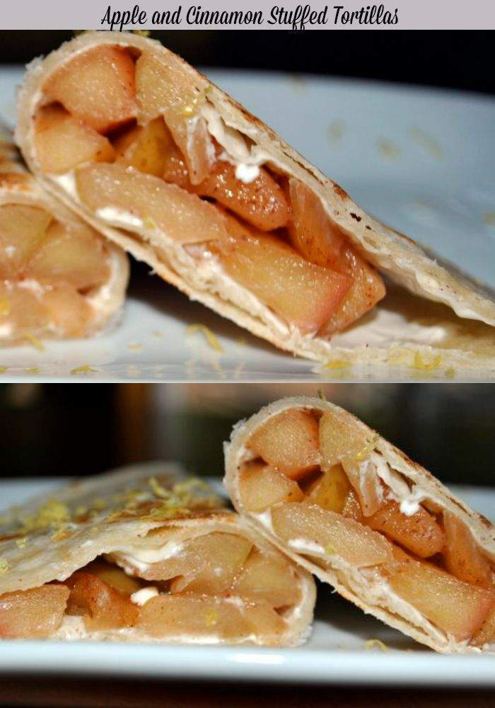 Apple Dessert – Apple Stuffed Tortillas with Cream Cheese