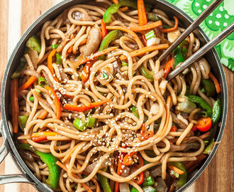 20-Minute Skillet Lo Mein (+Giveaway)