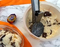 Homemade Cadbury Cream Egg ice cream