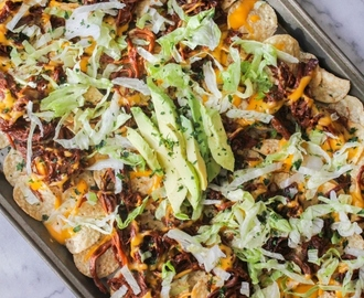Shredded Beef Jamaican Jerk Nachos