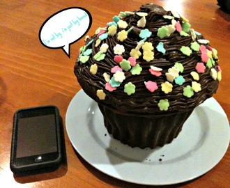 Giant cupcake to refuel your run & FIRST training