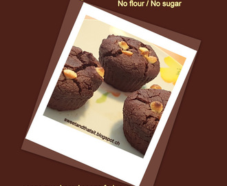 Healthy Choco Muffins No Flour and No Sugar / Muffin al Cioccolato Salutari Senza Farina e Senza Zucchero