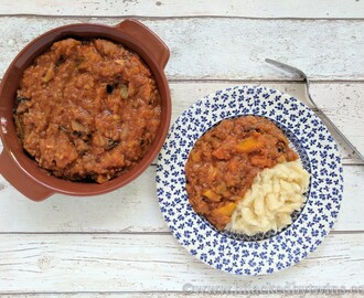 Lentil and Bacon Stew with Celeriac Mash