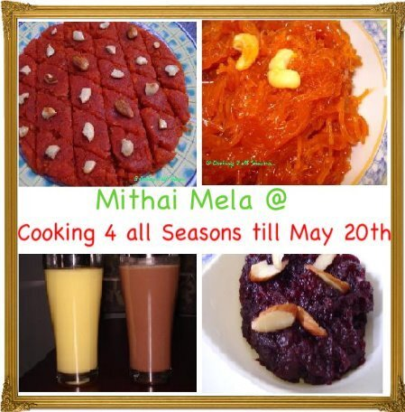 Cooking 4 all Seasons: Announcing Mithai Mela ~ Celebrating 2 years!