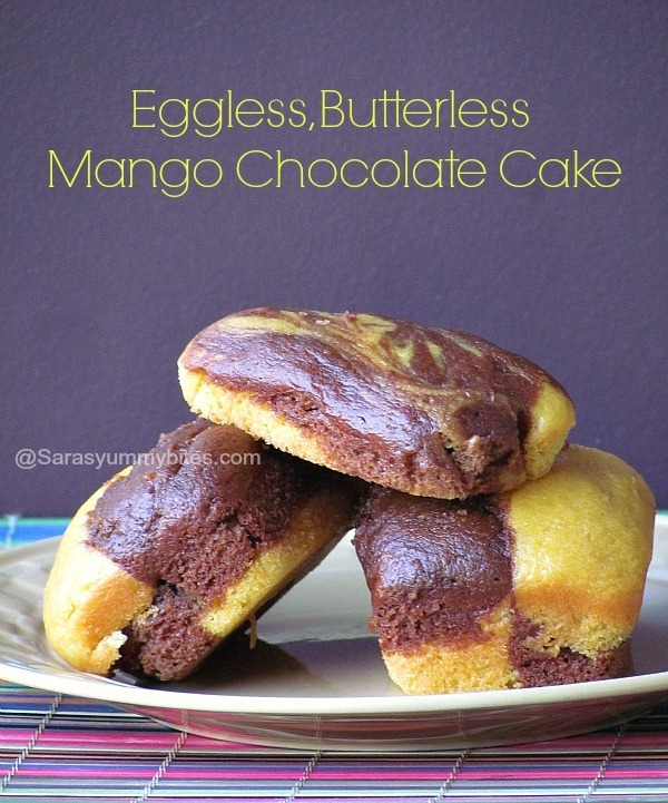 Eggless, Butterless Mango Chocolate Cake ~ Home Bakers Challenge # 2