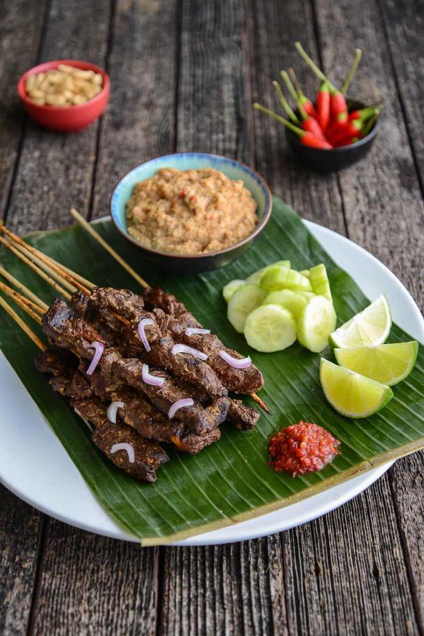 Expectations and Kangaroo Satays with Spicy Peanut Sauce