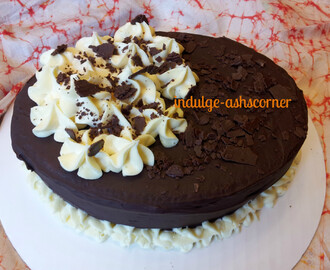 Choc Cream Flower Cake