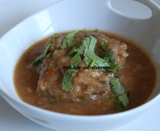 Oats + Lauki ki Kofta Curry-- Oats + Bottle Gaurd Kofta curry