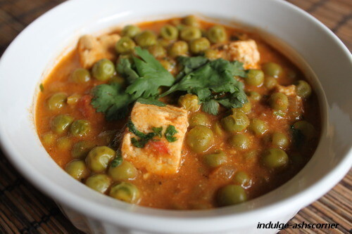 Shahi Matar Paneer- Cottage Cheese and Peas Gravy