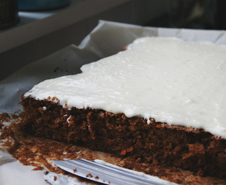 the best carrot cake with cream cheese frosting i've ever tasted