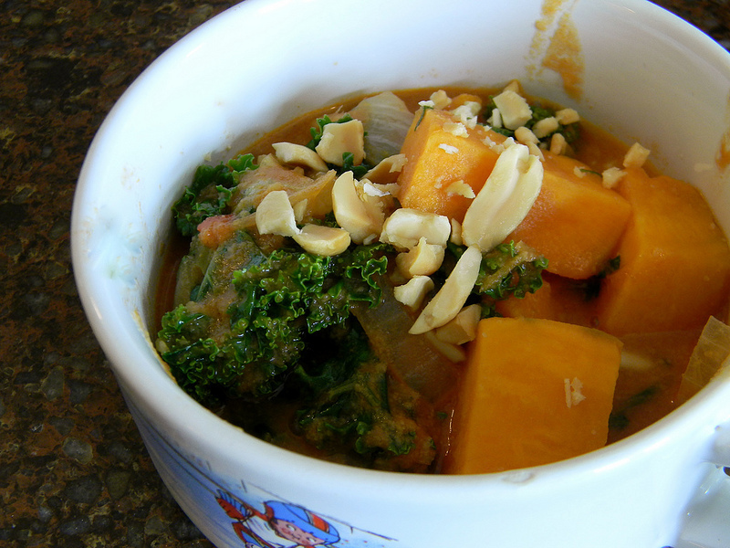 Kale and Sweet Potato Stew #SundaySupper