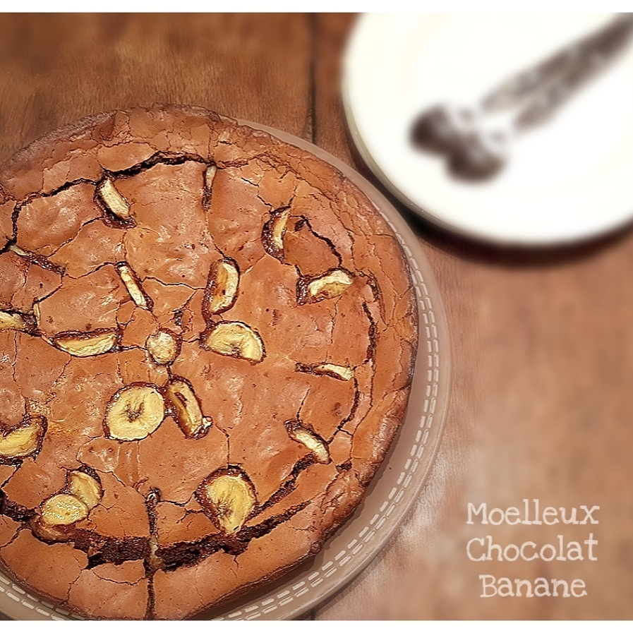 THERMOMIX : Moelleux Chocolat Lait - Banane