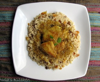 Sweet Moroccan style chicken with couscous...