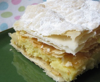 Polish cream pie - kremowka - Pope John Paul II favourite...