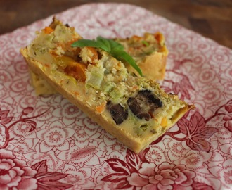 Breakfasts Without Bacon; Vegan Crustless Quiche Loaf