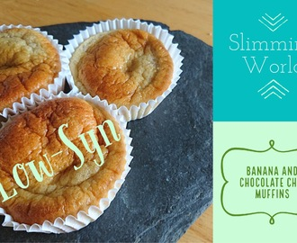 Low-Syn Slimming World Banana and Chocolate Chip Muffin Recipe