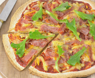 Fajipizza. Pizza con base de tortillas de trigo
