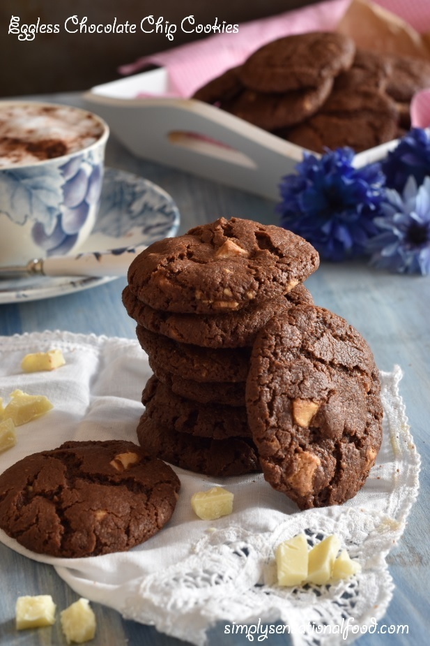 Eggless Chocolate Chip Cookies ~A tribute to Isabella -Coriander Queen