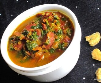 Moong Dal Wadi - Palak Curry