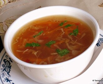 Hot And Sour Vegetable Soup (Indo-Chinese Style)