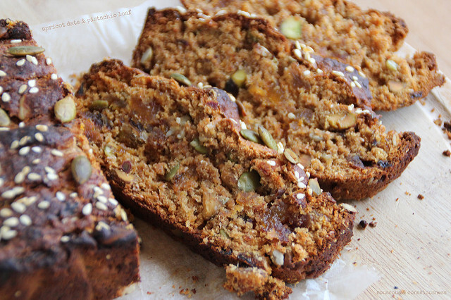 Apricot, Date & Pistachio Loaf